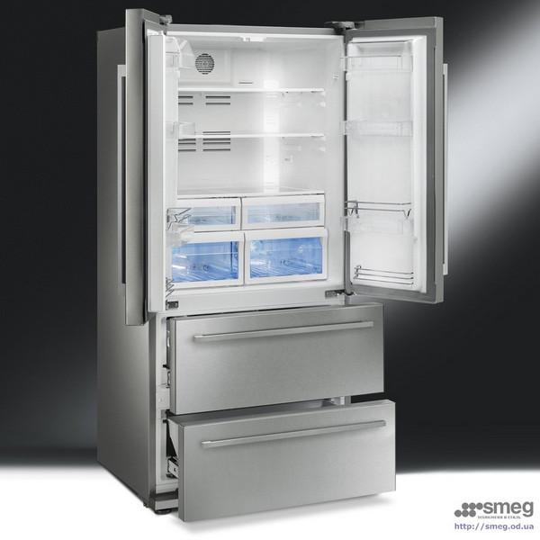 R frig rateur smeg fq55fxe - Frigo 2 portes 2 tiroirs ...